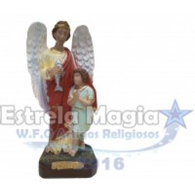 Anjo da Guarda São Rafael de Gesso 20 cm