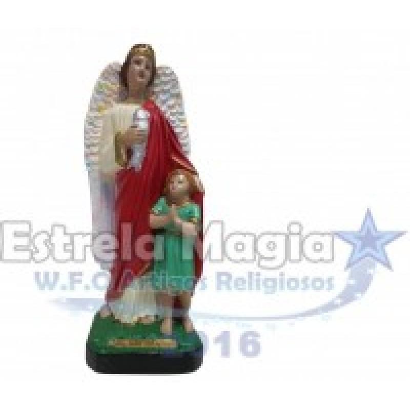 Anjo da Guarda São Rafael de Gesso 30 cm