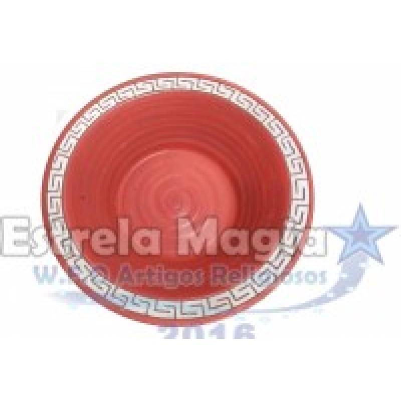 Bacia de Barro Africana Vermelho com Prata Nº 0
