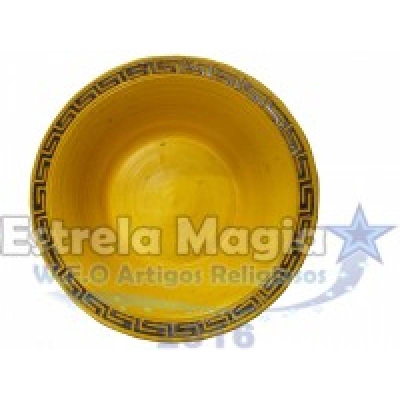 Bacia de Barro Africana Amarelo com Preto Nº 0