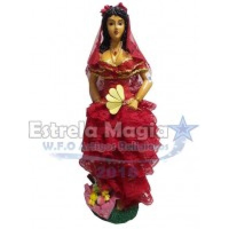 Imagem de Cigana Roupa Vermelha de Resina 60 cm