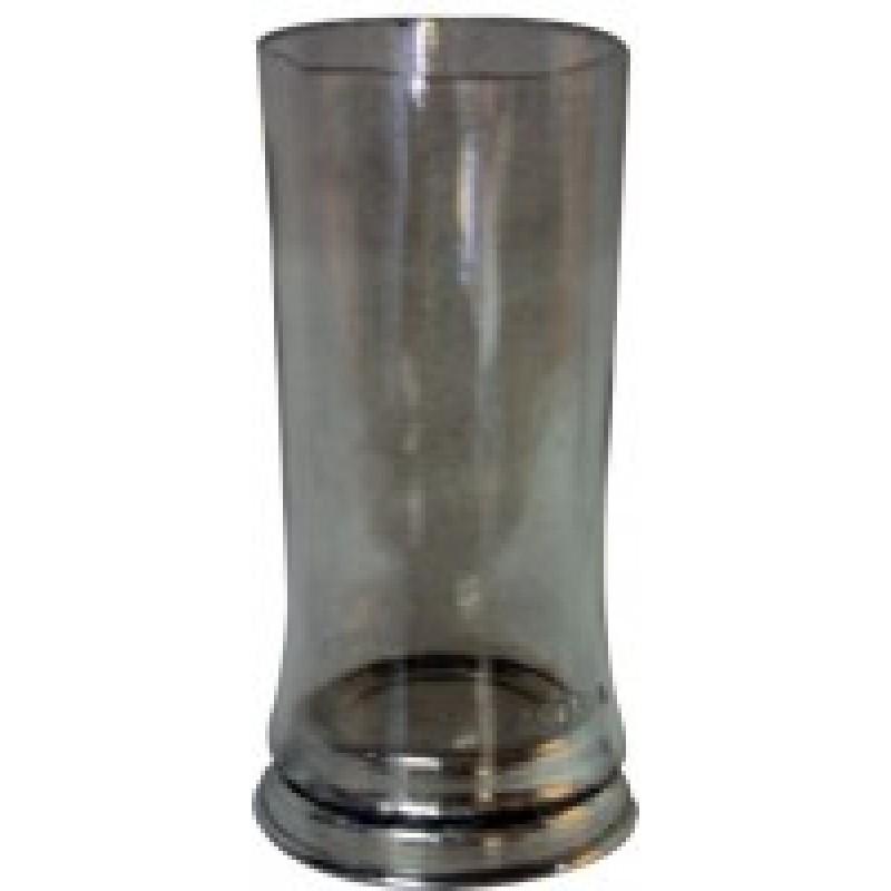 Copo para velas 7 dias com base aluminio incolor