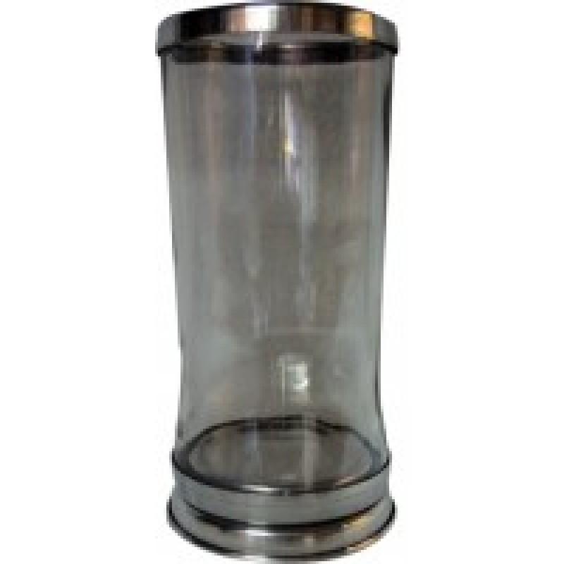 Copo para velas 7 dias com base e boca de aluminio...