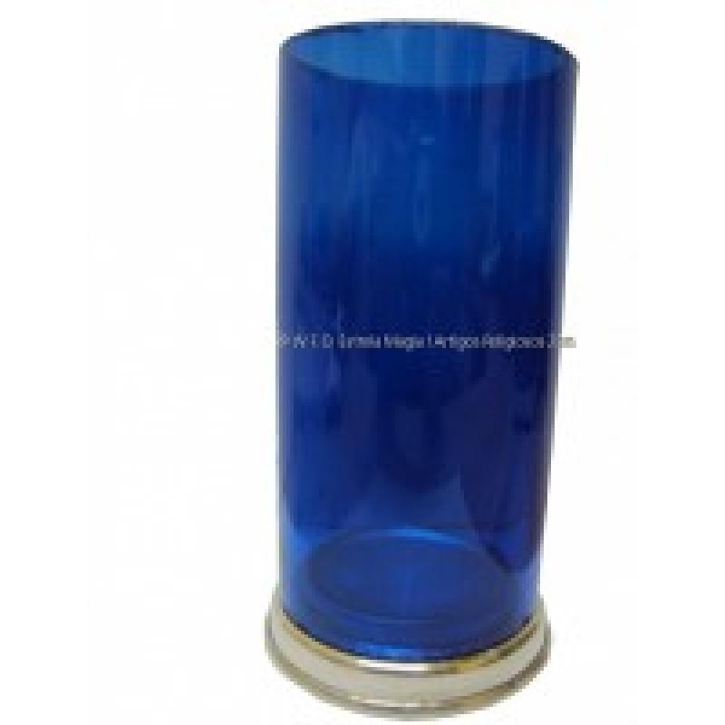 Copo para velas 7 dias com base aluminio azulão