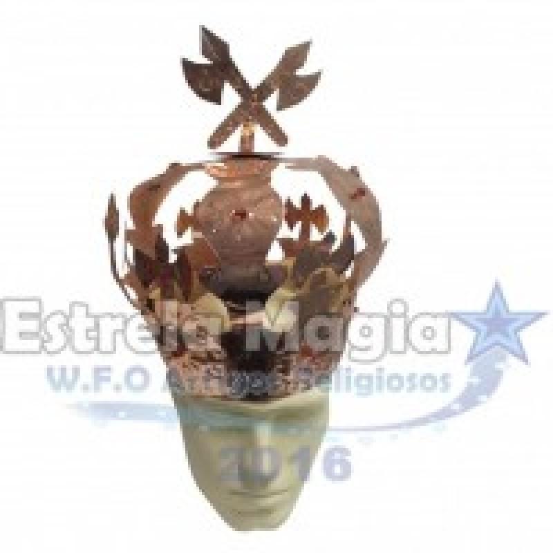 Coroa de Xangô de Cobre para Assentamento