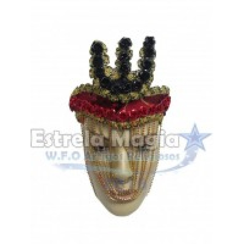 Coroa de Pomba Gira com Garfo Preto