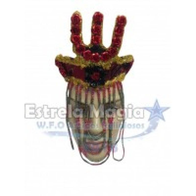 Coroa de Pomba Gira com Garfo Vermelho