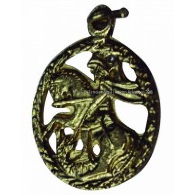 Medalha Miniatura São Jorge Latão