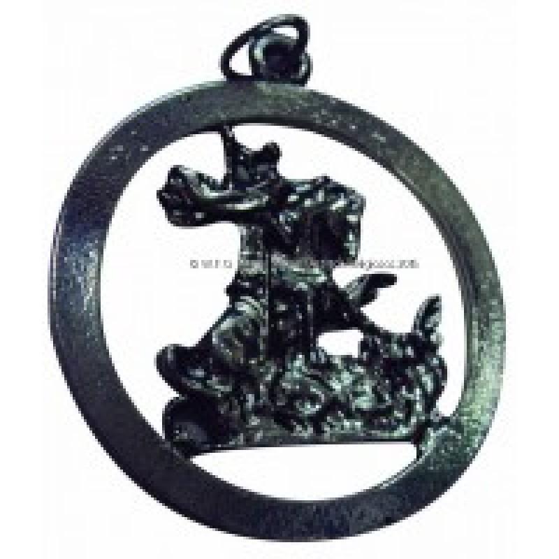 Medalha Miniatura São Jorge Vazada