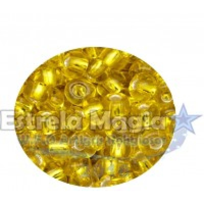 Miçanga Amarelo Cristal Gramas