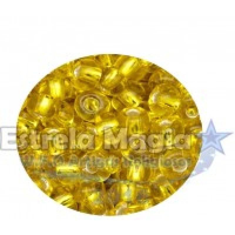 Miçanga Amarelo Cristal Pacote