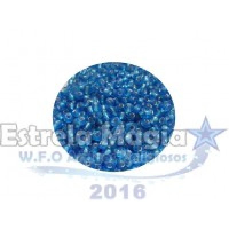 Miçanga Azul Claro Cristal Pacote