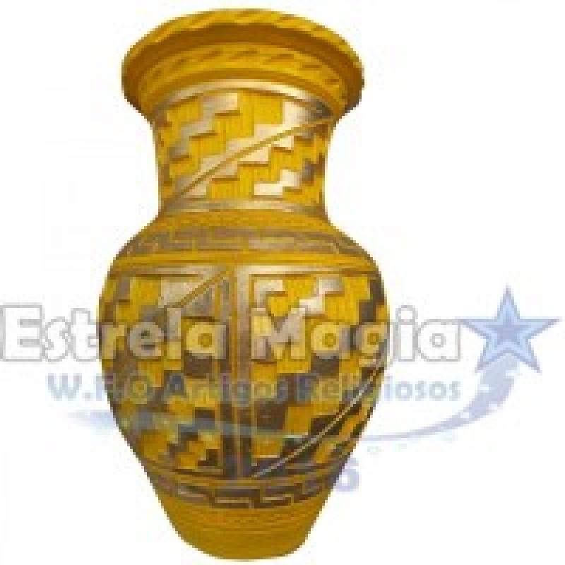 Quartilhão de Barro Africano Amarelo X Dourado se...