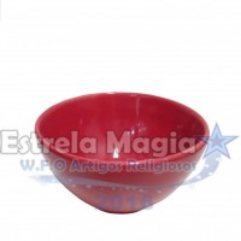 Tigela de Louça Vermelha 16 CM